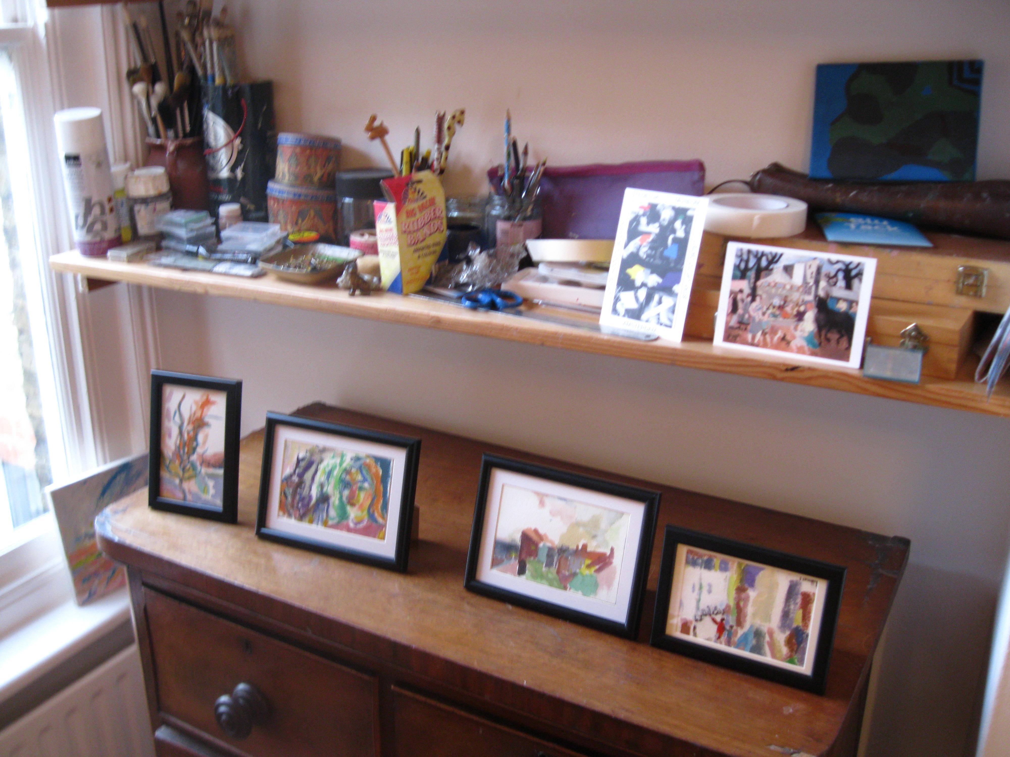 Small Paintings in my Studio, Kate Adams